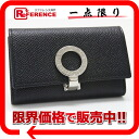 Six BVLGARI bulldog garfish logo clip key case black 30422 》 fs3gm for 《
