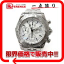 "Breitling クロノマットエボリューション chronograph men's watch SS silver character machine automatic winding A13356 beauty products ""enabled."""