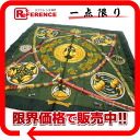 "》 fs3gm of HERMES silk scarf ""boyfriend"" DAIMYO( daimyo) Green line for 《"