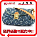 "Louis Vuitton Monogram Denim ""ミニプリティ"" shoulder bag blue M95050 ""enabled."""