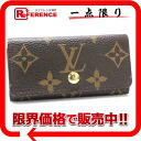"4 four Louis Vuitton monogram fully re-""ミュルティクレ"" key case Rose M60238 》 fs3gm for 《"