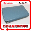 Fs3gm Hermes アジェンダジップ zip around pocketbook cover Epson Blue Jean silver metal I ever-s compatible.""