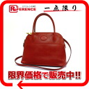 "Hermes ""boring 27"" handbag Bock scarf Rouge System V carved gold fittings with shoulder strap"