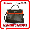 "Sew in a Hermes handbag ""Kelly 32"" with shoulder strap ヴォースイフト khaki silver bracket F inscribed ""response.""-fs3gm"
