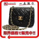 CHANEL lambskin mini-matelasse chain shoulder bag black 》 fs3gm for 《