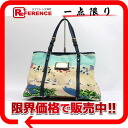 "Louis Vuitton IOL line ""kava PM Escale"" tote bag blue M93769"