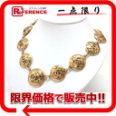 "Chanel CC necklace gold ""response.""-fs3gm"