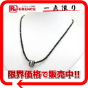 Like-new 》 fs3gm which has been finished with recycling jewelry K18WG black diamond roll pendant necklace for 《