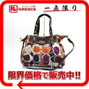 Coach Ashley hand draw scarf print 2WAY tote bag multicolored F20033 》 fs3gm for 《