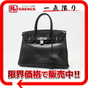 "30 HERMES highest peak handbag ""Birkin"" boxcalf black silver metal fittings C 刻 》 fs3gm for 《"