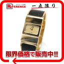 "Hermes Roque Bangle watch ladies watch quartz GP x lizard gold × fs3gm moss green L01.201 ""enabled."""