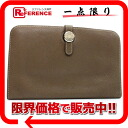 "Hermes 2 fold wallet ""Dogon GM"" slope エトープ silver fittings with coin purse N time ""response.""-fs3gm"