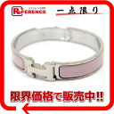 "Hermes H Bangle click rack PM pink x fs3gm Silver ""support."""