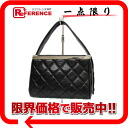 CHANEL lambskin quilting box type バニティバッグブラック 》 fs3gm for 《