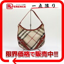 Burberry Novacek semi-shoulder bag beige / red 》 fs3gm for 《