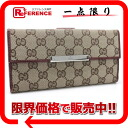 Gucci METAL BAR( metal bar) GG W hook long wallet beige X Bordeaux 112715 》 fs3gm for 《