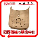 Hermes Evelyn 1 GM shoulder bag トリヨンクレマンス beige entered bracket G ticking? s support» fs3gm