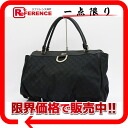"Gucci D GOLD (gold D) GG shoulder Tote Bag Black 190248 like new ""response.""-fs3gm"