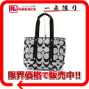 Coach Kyra signature 2WAY tote bag black X white F18855-free 》 fs3gm for 《