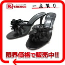 7 Charles Jordan screw leather flower sandals mule black 》 fs3gm for 《
