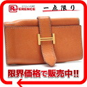 "Hermes Bernd 4-key case Epson gold metal Orange J ticking ""response.""-fs3gm"