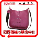 "1 HERMES ""Ebb phosphorus"" PM shoulder bag Epson cyclamen silver metal fittings H 刻 》 for 《"