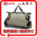 Gucci diamond 2WAY shoulder bag black x beige 223930? s support.""