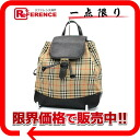 Burberry classical music check rucksack beige X black 》 for 《
