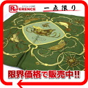 "》 of HERMES silk scarf ""boyfriend """"SPRINGS( springs) Green line for 《"