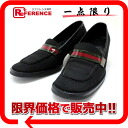 38 gucci nylon Lady's loafer black sherry 》 for 《