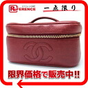 CHANEL caviar skin side type バニティバッグルージュ (red) 》 for 《