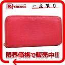 "HERMES round fastener long wallet ""アザップロング"" シェーブルローズショッキング L 刻 》 for 《"
