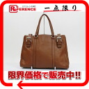 PRADA VITELLO DAINO BUCKL( ヴィテロダイノバックル) tote bag leather brown BR2506 beauty product 》 for 《