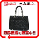 CHANEL caviar skin quilting chain tote bag black beauty product 》 for 《