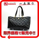 CHANEL Wilde stitch vinyl tote bag black mat gold metal fittings 》 for 《