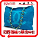 CHANEL nylon CC chain tote bag blue 》 for 《
