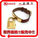 HERMES Kelly watch Lady's watch quartz red system gold metal fittings W 刻 》 for 《