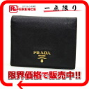 PRADA SAFFIANO METAL( サフィアーノメタル) two fold wallet black 1M0204 》 02P05Apr14M 02P02Aug14 for 《