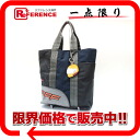 PRADA sports line nylon POP SHWFFFFFF tote bag gray X navy 4VA599 》 for 《