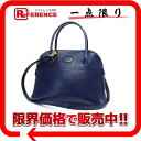 "Boxcalf blue gold metal fittings 》 with 27 HERMES ""ボリード"" handbag shoulder straps for 《"