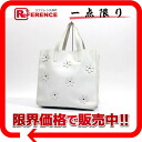 PRADA leather flower motif tote bag white 》 for 《