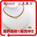 Dior chain design necklace & earrings gold like-new 》 for 《