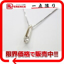 Like-new 》 fs3gm which has been finished with Tasaki K18WG diamond 0.15ct pendant necklace for 《