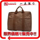 HERMES yell line PC case handbag brown 》 02P05Apr14M for 《