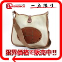 "Hermes Evelyn 1 GM shoulder bag toil Ash natural / Brown silver bracket H engraved ""response."""