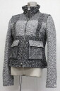 40 CHANEL 11P patchwork tweed Lady's zip up jacket black system-free 》 for 《