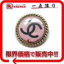 CHANEL 08P CC broach pink X gold metal fittings 》 for 《