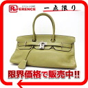 "HERMES highest peak bag ""shoulder Birkin"" avian Yong Clement's anise green silver metal fittings J 刻新品同様 》 for 《"