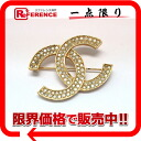 CHANEL CC broach rhinestone gold 》 for 《