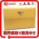 プラダサフィアーノ three fold wallet yellow M510 》 for 《